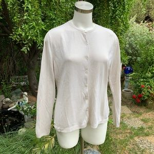AUGUST SILK Ivory Rayon Blend Cardigan Sz XL